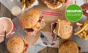 Murder Burger: Choice of Two ($18) or Four Gourmet Burgers ($34) at Murder Burger, Two locations (Up to $59.60 Value)