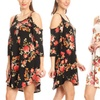 Nelly Women's Printed Open-Shoulder Tunic Dress Plus Sizes Available