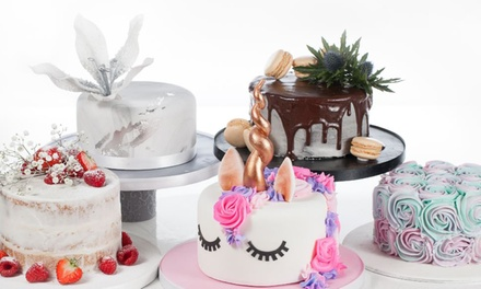 Small, Medium or Large Celebration Cake from 3D Cakes, Two Locations (Up to 77% Off)