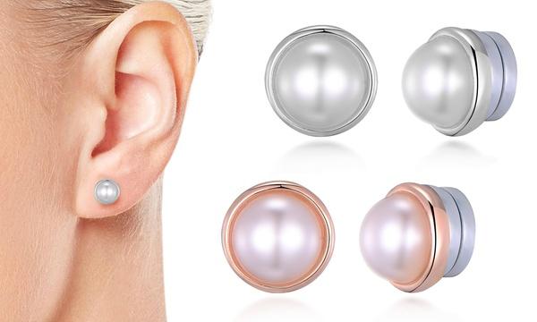 1x, 2x oder 3x Philip Jones Magnet Ohrringe mit Süßwasserperlen in Silber, Gold oder Roségold
