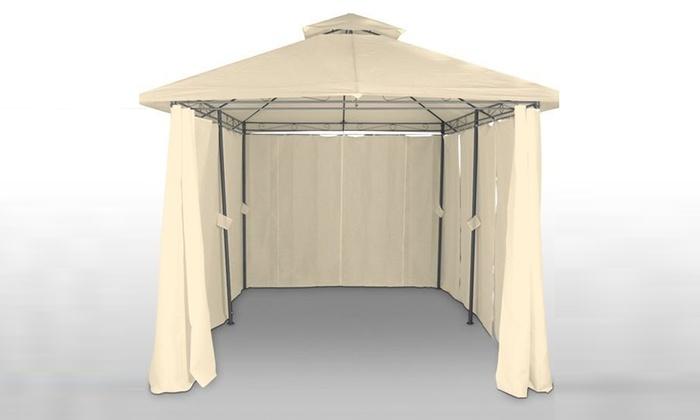 groupon goods global gmbh carpa con cortinas color beige por 139 16 - Cortinas Beige