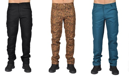 Men's Printed and Solid Color Chino Pants
