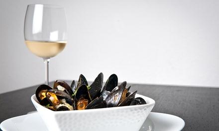 Menu di mare e calice di vino a 29,90€euro
