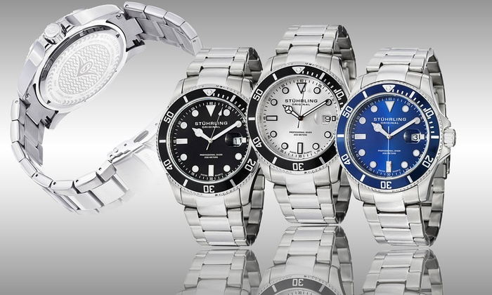 Up To 97% Off on Stuhrling Men's Dive Watch | Groupon Goods