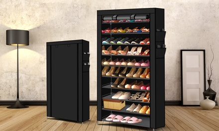 $35 for a 10-Tier (Up to 50-Pair) Stackable Steel Shoe Rack in Choice of Colour