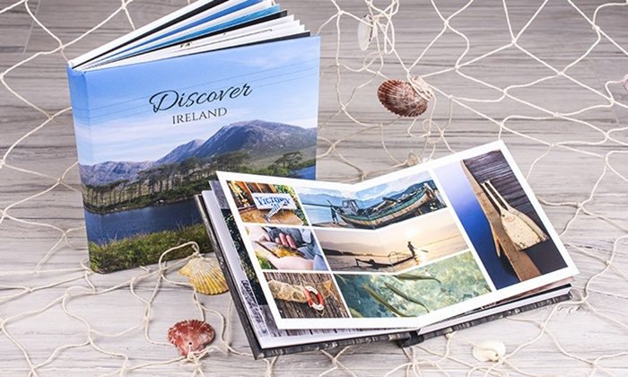 Colorland: One or Two 20cm x 15cm or 20cm x 20cm 20-Page Personalised Photo Albums from Colorland (Up to 63% Off)