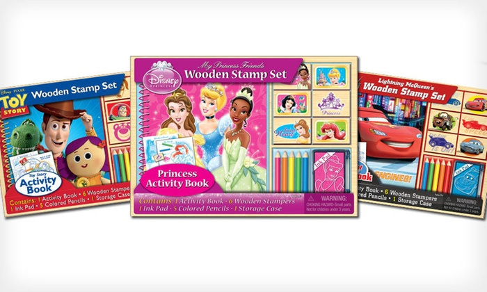 Disney Wooden Stamp Set: $12 for a Disney Wooden Stamp Set ($16 List Price). Three Sets Available. Free Returns.