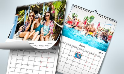 image for Up to Three Personalised Wall Calendars from Printerpix (77% Off)