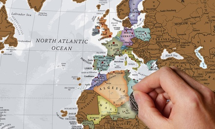 1 o 2 carteles del mundo o de europa para rascar desde 9,99 € (hasta 68% de descuento)