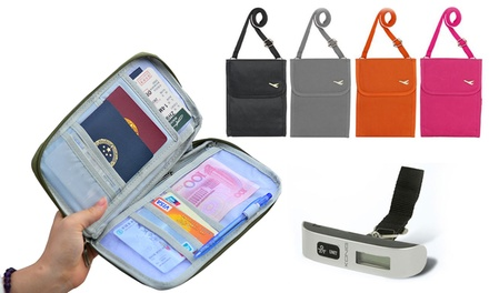 Passport Holder, Digital Luggage Scale or Travel Document Bag or Both or All Three from £3.95