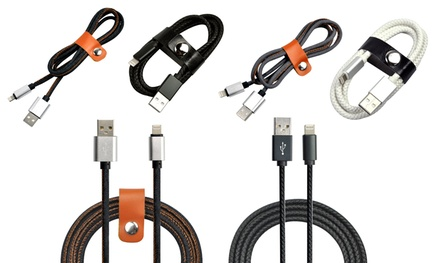 pu leather or denim usb cable