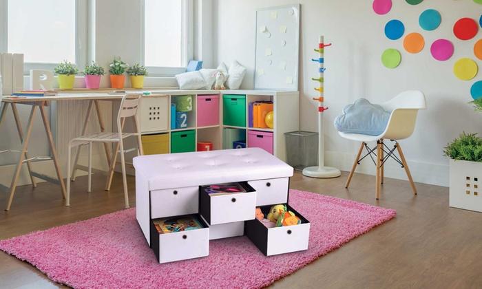 banc de rangement avec tiroirs groupon shopping. Black Bedroom Furniture Sets. Home Design Ideas