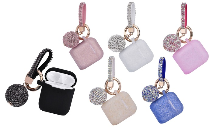 official photos 67b33 f4977 Up To 52% Off on AirPod Case with Keychain Set | Groupon Goods