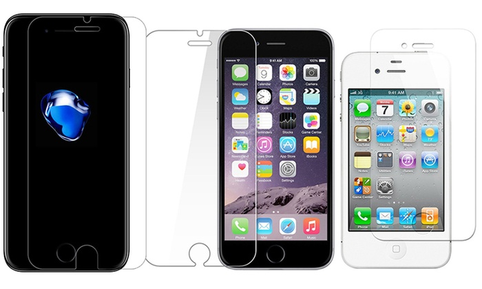 One, Two or Three Tempered Glass Screen Protectors for iPhone