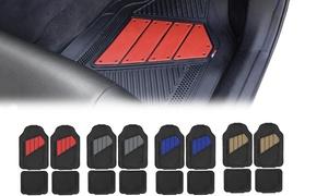 Motor Trend Rubber Car Floor Mat Set (4-Piece)