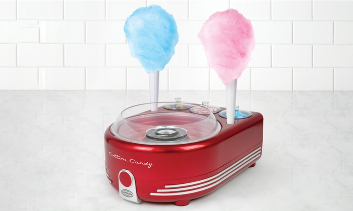 nostalgia cotton candy maker how to use