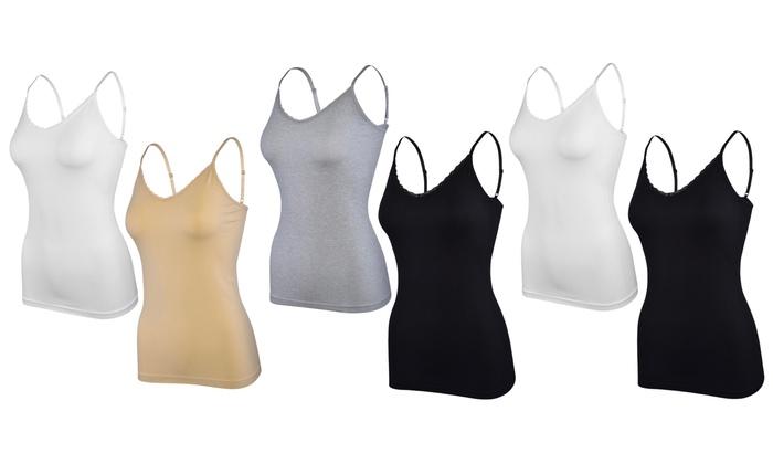 e21d9b02fc0 Up To 71% Off on Women's Tank Top with Lace Trim | Groupon Goods