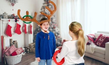 1, 2 o 3 juegos navideños inflables de lanzamiento de anillos