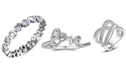 Anelli Be-Jewels con cristalli Swarovski®, disponibili in vari modelli e 3 misure