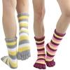Cozy Striped Plush Winter Toe Socks (6-Pairs)