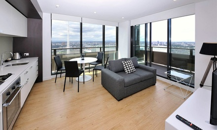 Melbourne CBD: 1 2 Nights for Two or Four People with Wine and Late Checkout at Serviced Apartments Melbourne Opus