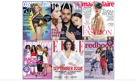 $5 for a One-Year Fashion-Magazine Subscription from Hearst Magazines (Up to 67% Off). Six Options Available.