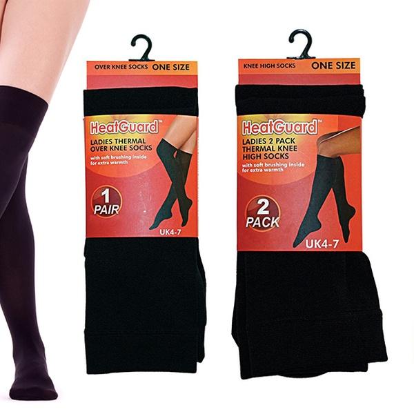HeatGuard Ladies Thermal Over Knee Socks