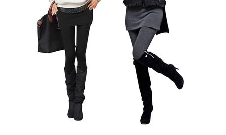 1 o 2 leggins básicos con falda
