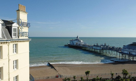 Eastbourne: 13 Nights for Two with Breakfast, 3Course Dinner and Glass of Wine at Queens Hotel