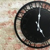 Up to 50% Off Personalized Laser-Cut Steel Clock