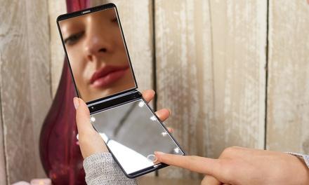 GloBrite EightLED Touchscreen Travel Mirror