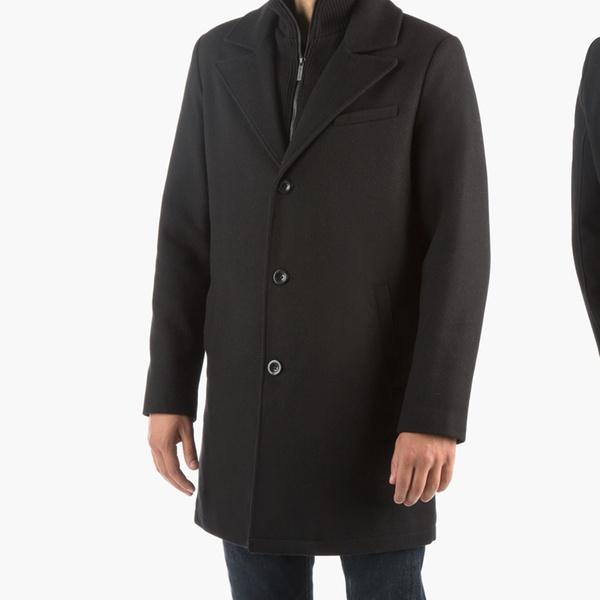 1eb12f0544d2 Kenneth Cole New York Men's Wool Walker Coat with Bib