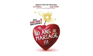 Théâtre Trianon: 2 places et 2 coupes de Champagne ou sodas pour la pièce à succès ''10 ans de mariage'' à 36 €