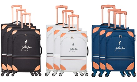 Set di 3 trolley Mathew Gentleman Farmer, con ruote girevoli a 360°, disponibili in 4 colori