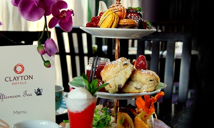 A Proper Lush Afternoon Tea with Prosecco Cocktail for Two or Four at Clayton Hotel Cardiff (Up to 29% Off)