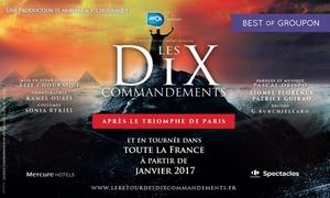 Premier rang: 1 place au choix pour le retour des 10 Commandements, le 19, 20 et 23 mai 2017 à 20h, dès 17 € à Rouen et Orléans