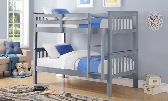 Oxford Wooden Bunk Bed with Optional Two Single Mattresses