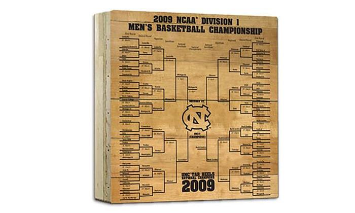 NCAA 2009 Basketball Champions UNC Tar Heels Court Slab