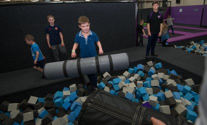 image for One-Hour Trampoline Park Access for Up to Four at Xtreme 360 (25% Off)