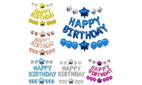 """1x oder 2x Luftballon-Set """"Happy Birthday"""" in der Farbe nach Wahl"""