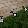 Set of 4 Outdoor Solar-Powered Spotlights