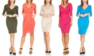 Seranoma Women's V-Neck Dress. Plus Sizes Available.