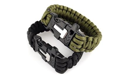 1 ou 2 bracelets de survie paracorde avec sifflet et allume-feu