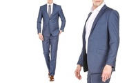 2-Piece Gino Vitale Men's Slim-Fit Sharkskin Suit (several colors)