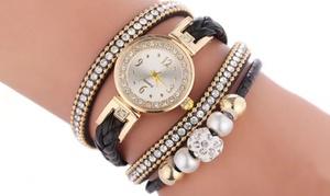 Montre avec bracelet serpent