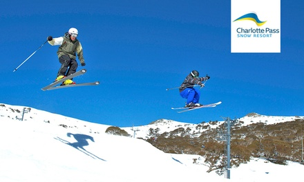 Snowy Mountains, Charlotte Pass: Ski Lift Pass with Return Over-Snow Transport & Lunch for One Person