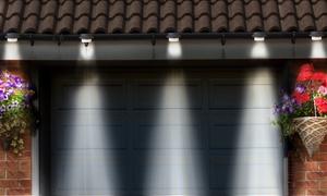 2, 4, 6 ou 8 lampes de gouttière solaires