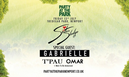 Party At The Park 2019 with Sister Sledge & Gabrielle, 12 July at Tredegar Park, Newport