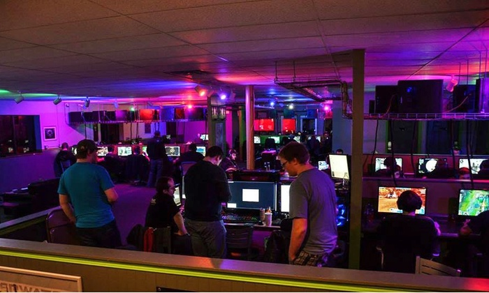 Game On Computing - Elmwood North: 5 or 10 Hours of Gaming with a Burger, Fries, and a Drink at Game On Computing (50% Off)