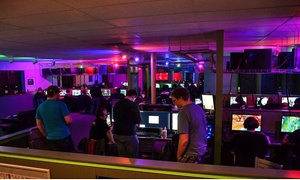 Game On Computing: 5 or 10 Hours of Gaming with a Burger, Fries, and a Drink at Game On Computing (50% Off)